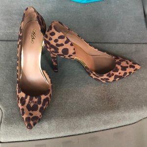 Size 8 missimo cheetah print pumps